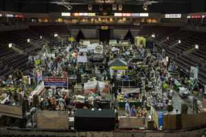 Over 90 vendors showcase items at the Arizona Survivalist/Prepper Expo. (Photo by Jim Tuttle/News21)