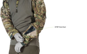 Attached device pouch