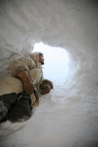 stroud in ice cave