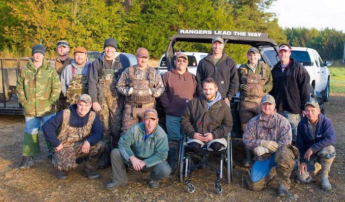 Fred Choate hunting with veterans