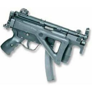 HK rifle with folding stock