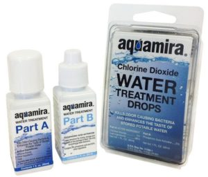 Aquamira purifying chemicals