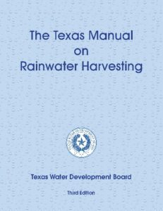 Texas Manual for Rainwater Harvesting